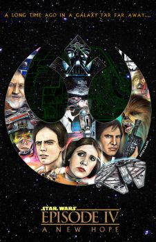 STARWARS Episode IV 40th Anniversary by Art-by-Jilani