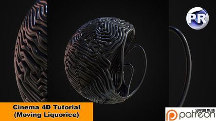 Moving Liquorice (Cinema 4D Tutorial) by NIKOMEDIA