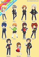 PERSONA 4 CHIBI SET by siruvi