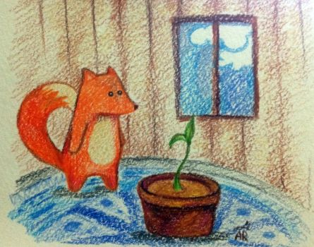 Fox and a pepper by Wilentsia