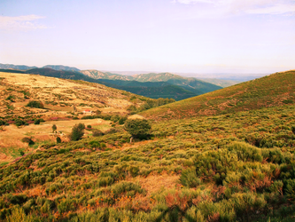 An landscape in Ardeche, at Sunset by Ludo61