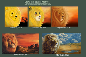 Draw This Again Meme  Gold Lion by The-Hare