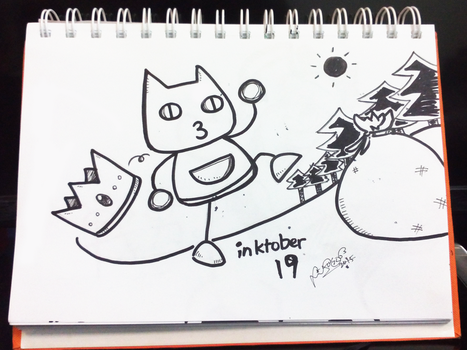 Inktober D19 - The Cat Burglar who was once a King by firekyuubisasuke