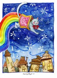 Nyan cat by MaryIL