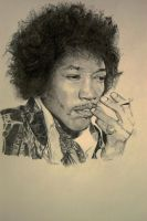 Jimi in thought by Ed-Head73