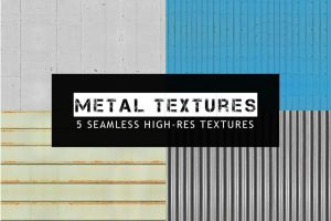 5 Seamless Metal Textures by pstutorialsws