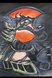 Scorpion and Noob Saibot Mortal Kombat by pauline86