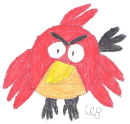 Red Angry Bird by TucanaTheToucan