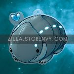 Wee Baby Pillbug charm! by zillabean