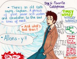 Art Challenge 6, Doctor Who: Fav' Catchphrase by WhatItMeansToBeHuman