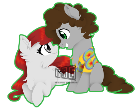 Commission: GoudaMacNCheese and Babe - Sticker by TheArtsyEmporium
