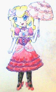 Lady peach drawing version by ninpeachlover