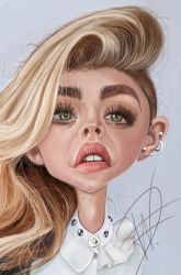 Chloe Grace Moretz Caricature by du-har
