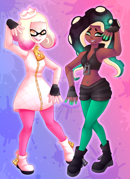 Pearl and Marina by Scarlet-Spectrum