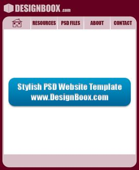 Stylish PSD Website Template by MansyDesignTools