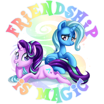 Starlight and Trixie by artwork-tee