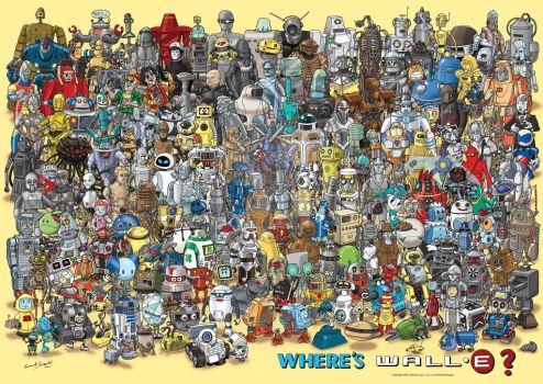 Where's Wall-E? by GeekingsCards