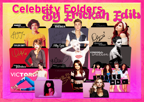 Celebrity Folders PNG and ICO Pack by Splendiferous24