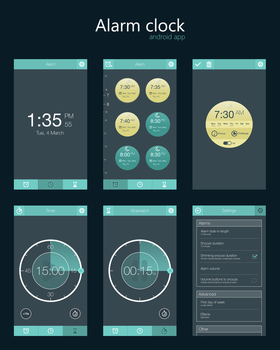 Alarm Clock Android App by dxgraphic