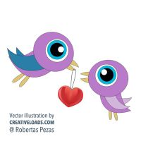 Two Love Birdies by Roberis