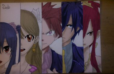 Fairy Tail (Coloured) by MonkeyDDante