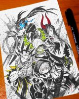 Inked Black Rock Shooter by IqbalAliph