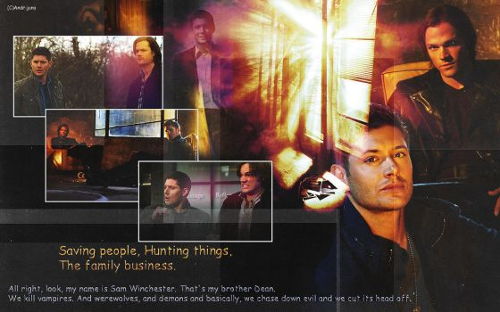 Supernatural--family business by AnGel-Perroni