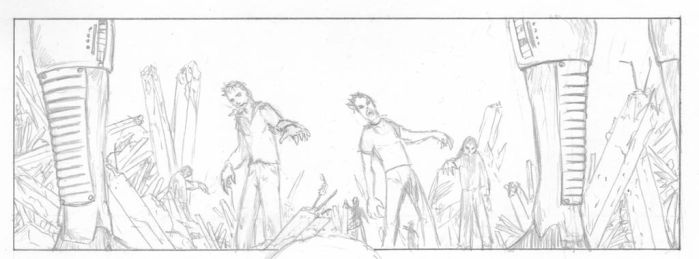 EXorcIsT ltd - Page 04 - Panel 01 - Pencil by faustocarotti