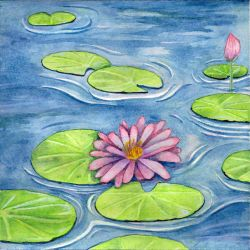 Lotus Flower (1807) by RhyssaFireheart