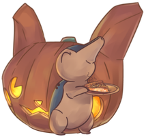 Halloween Hinoarashi | Cyndaquil Commission
