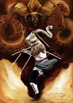 Eight Tailed Killer Bee by four-corners