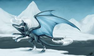 Icy Kelpiedragon by Natoli