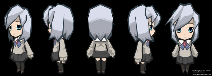 Corpse party 2 Dead Patient: Ayame Ito re-textured by aquapaulo