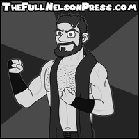 Aiden English (Black + White) by TheFullNelsonPress