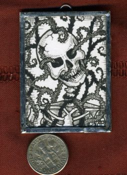 Overgrown Skeleton Mini Art Jewelry by MetallicVisions