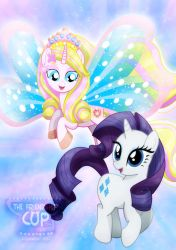 Rarity and Aphrodite as ponies by jucamovi1992