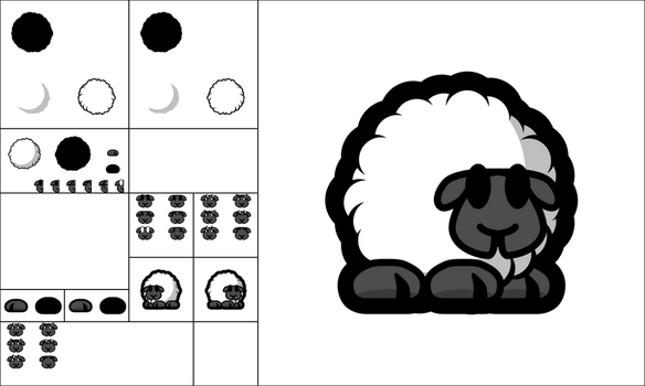 Teeworlds Tee Sheep by android272