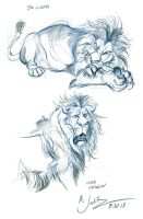 Lion Gesture Studies by dodgyrom