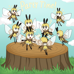 Eight Ribombees by CyaniDairySentinel