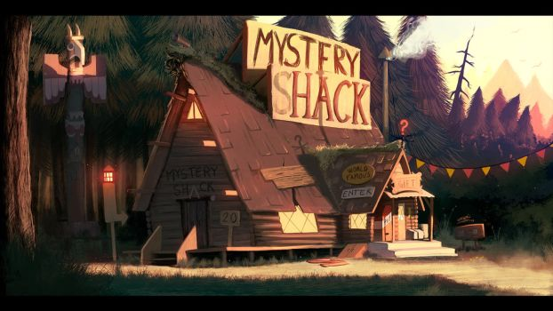 Gravity Falls - Mystery Shack (finished painting) by DFer32