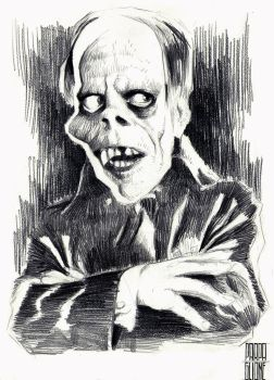 Lon Chaney, The Phantom of The Opera by Parpa
