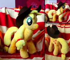 + My Little Pony custom plushie - Applejack + by Kamisia