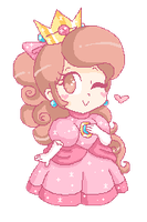 .~Princess Clo (Peach version)~. by ThePinkMarioPrincess