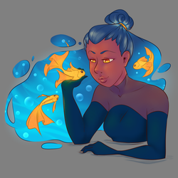 Fish hair Redraw thing.... by TheSamDS