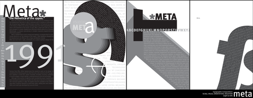 Typographic Compositions: Meta by SkeliFish