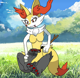Braixen Loves to Paint by RaidenTheDeoxys