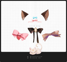 Pack Bows 7 Png by Hanyu-Hi