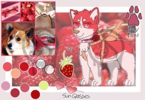 Red corgi (Closed)-Moodboard feral by Pinkwolfly