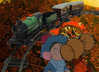 A Romantic Train Ride for Two Young Mouse Lovers by PurpleBeauty97