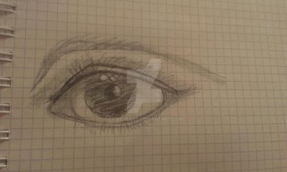 Realistic eye practice by ChatteArt